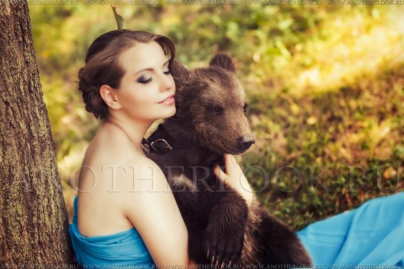 Фотосессия с медвежонком