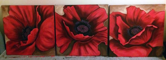 poppies painting, flower painting, portland muralist, portland murals