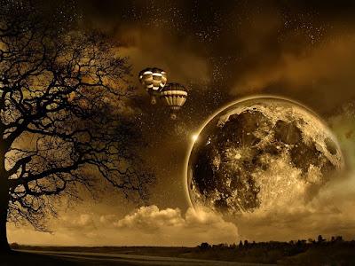 poem, moon