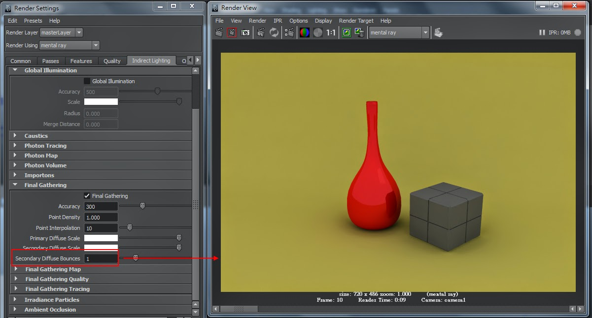 FG Render Setting in Maya 11