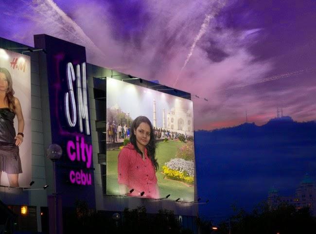 PhotoFunia billboard photo effect Romance in the air with Purple Sky