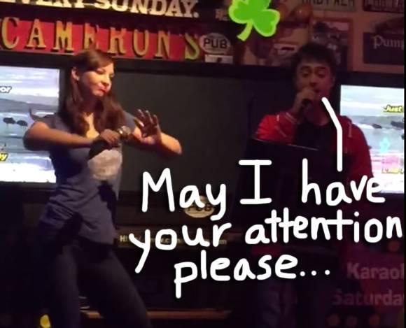 Erin Darke dancing Daniel Radcliffe singing eminem funny video