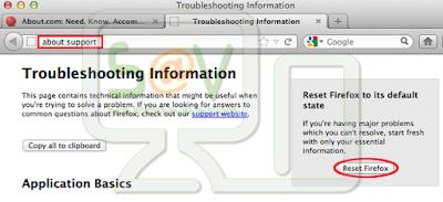 Restablecer la configuración del navegador Mozilla en Mac OS X