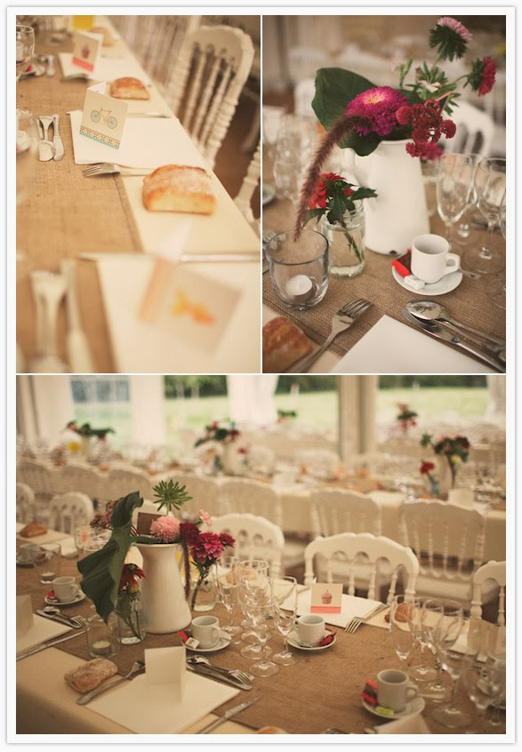 Country wedding table ideas photograph tab