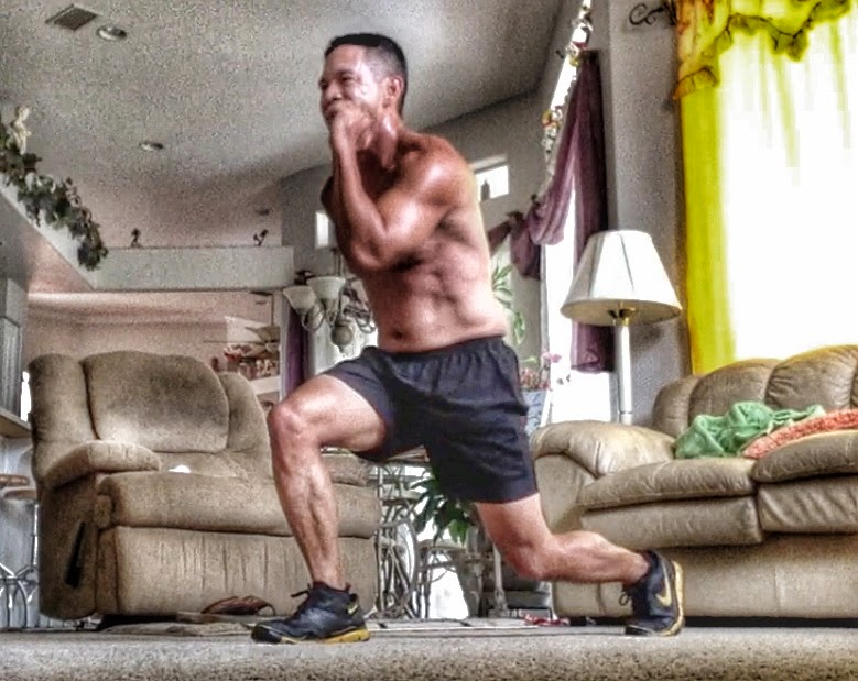 Body Beast Lunge Jumps