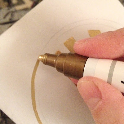 ideas on what to do with a gold sharpie