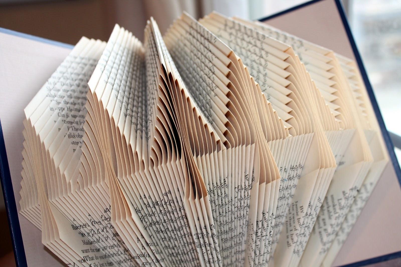 Folded Book Patterns Interesting Decorating Design