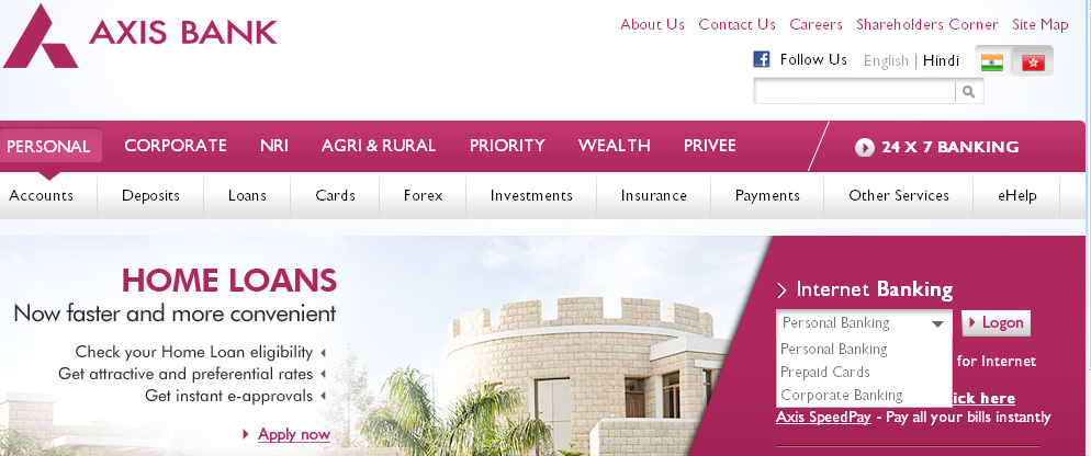 how to pay axis bank credit card bill