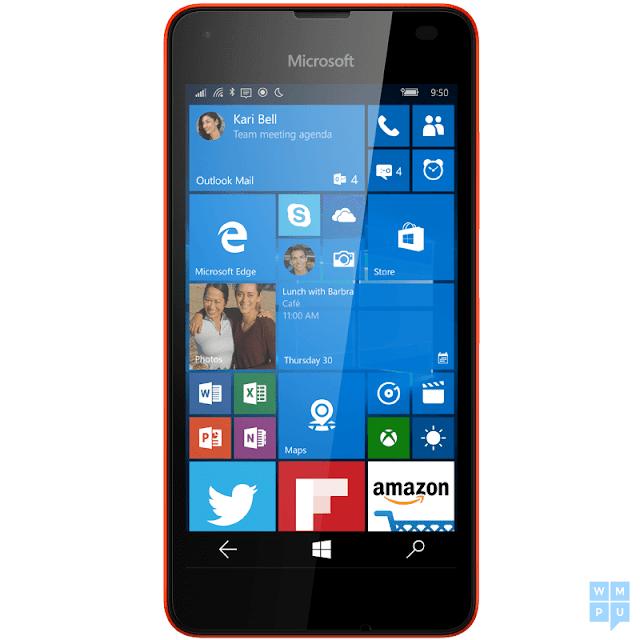 Lumia 550 red