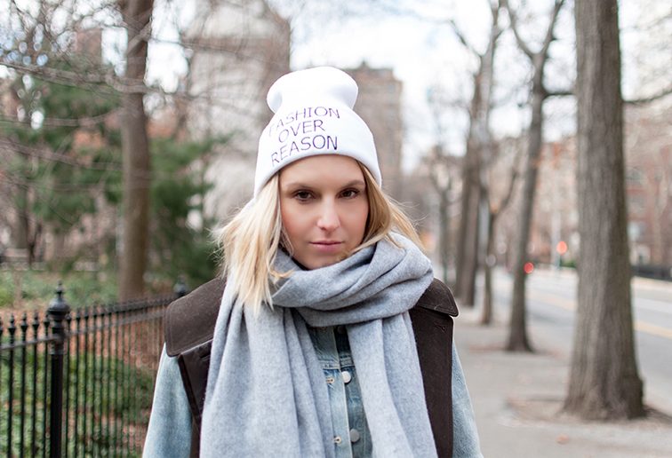 FORlid, Fashion Over Reason tuque - white, FOR beanie, FORgear, NYC