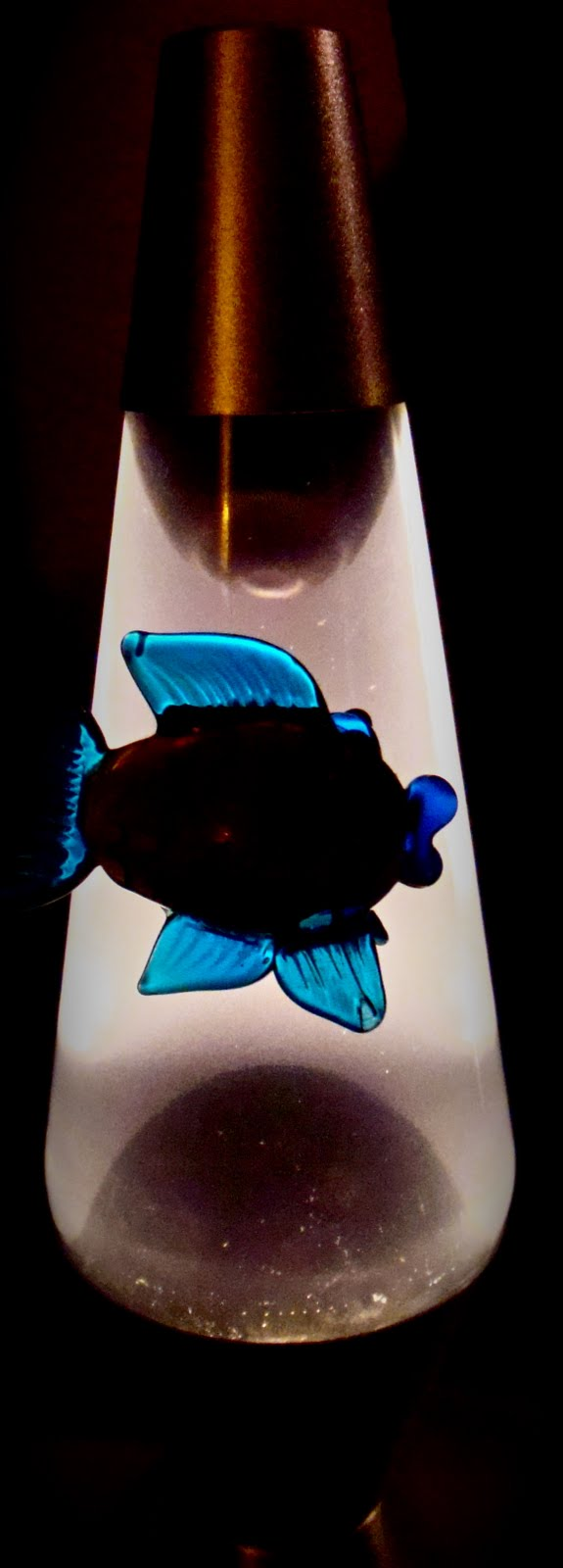 The little glass fish for Fish lava lamp