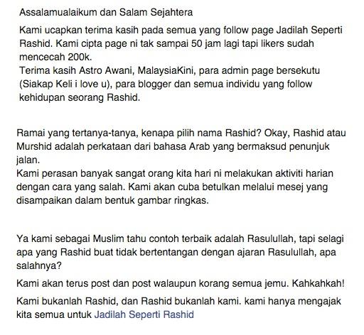 Pendedahan Siapa Rashid Sebenarnya