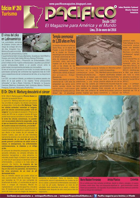 Revista Pacífico Nº 260 Turismo