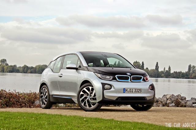 silver BMW i3 at the Water in Alsmeer
