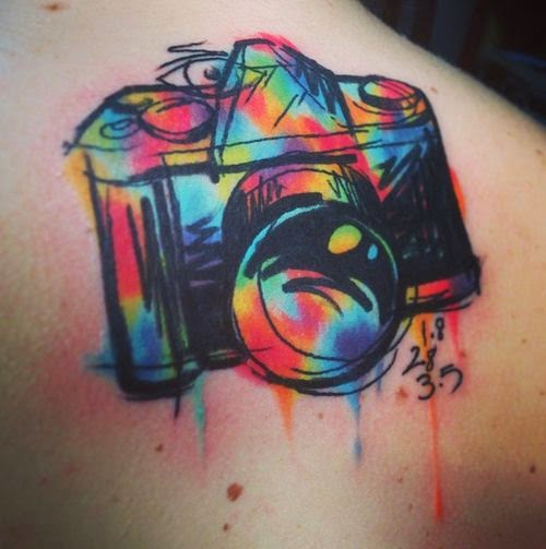 ♥ ♫ ♥ Cool Camera Tattoo ♥ ♫ ♥