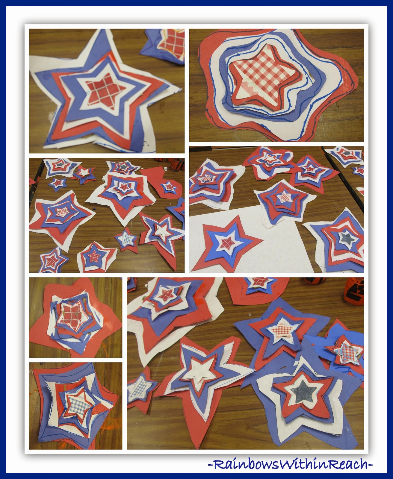 Patriotic Stars Created in Honor of Veteran's Day