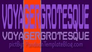 Font Gratis Untuk Design - Voyager Grosteque