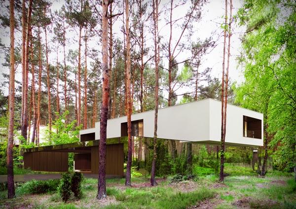 konsep-desain-modern-rumah-cermin-izabelin-house-melayang-di tengah-hutan-003