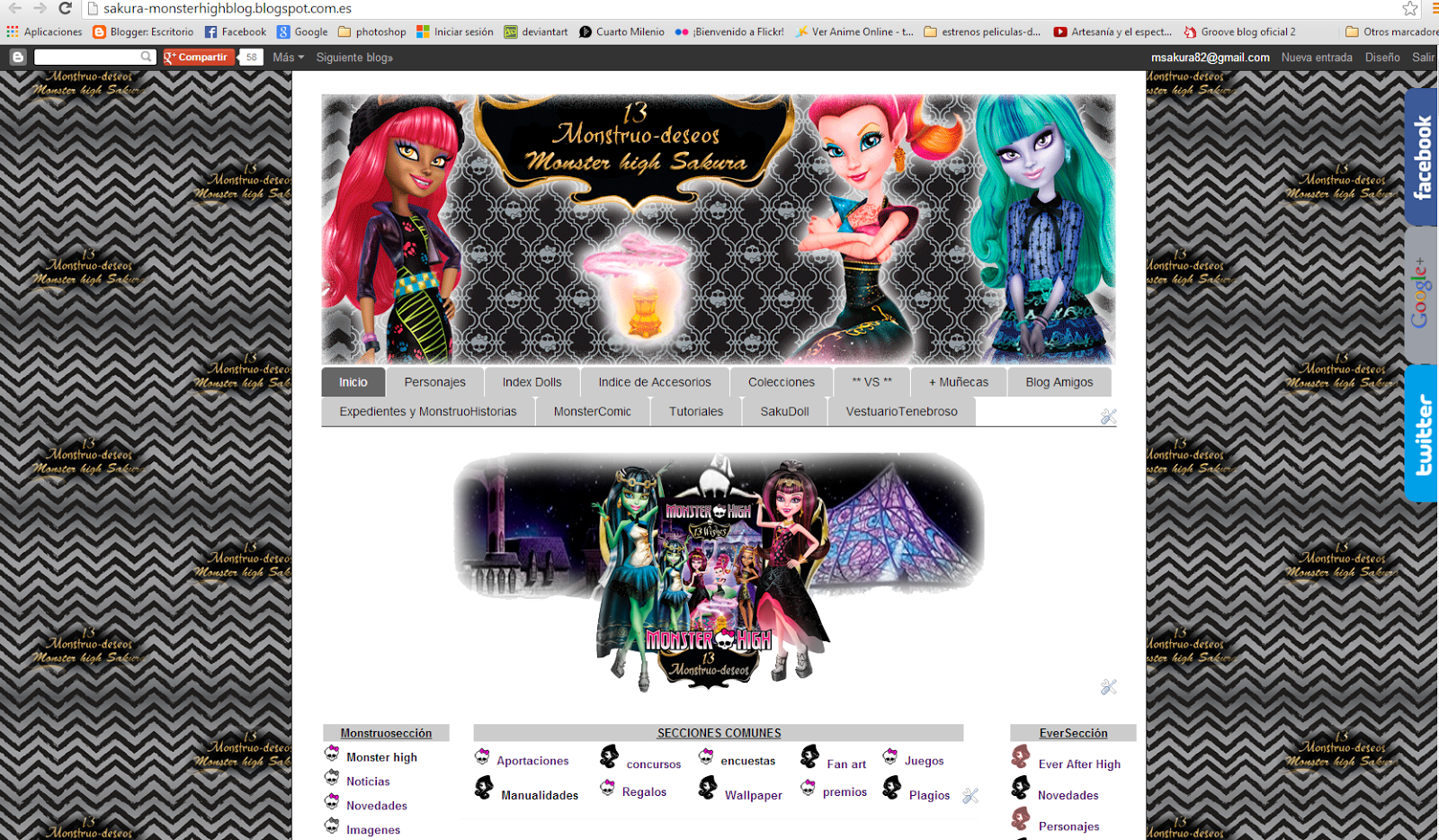 monster high: Diseño 13 deseos