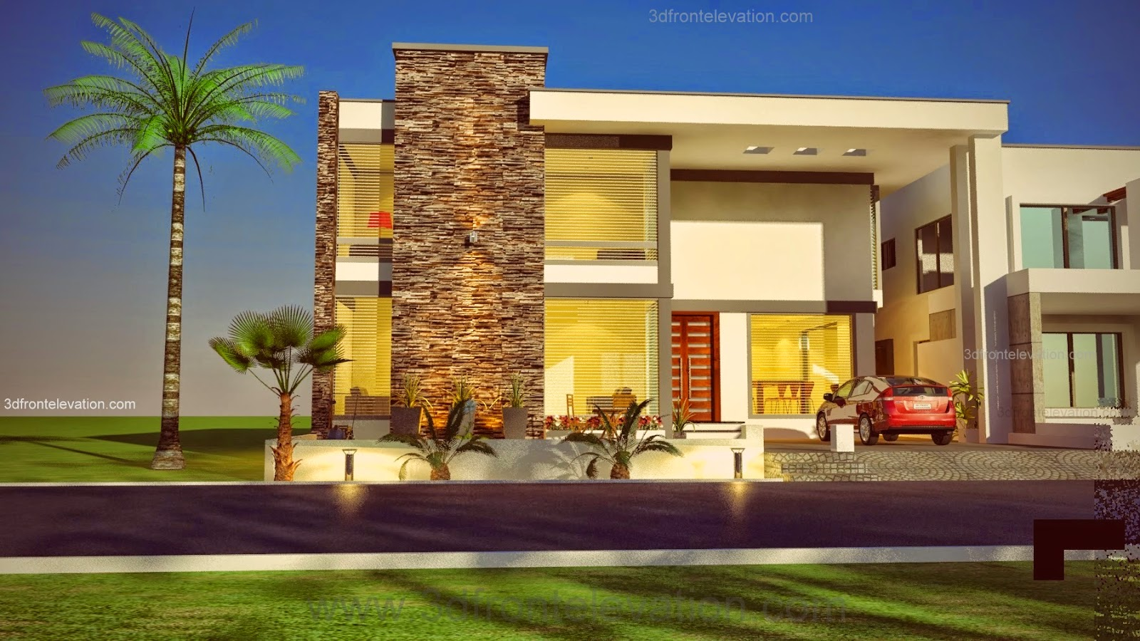 Front elevation of houses in karachi joy studio design for Simple house elevation photos