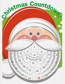 calendário natal para imprimir papai noel