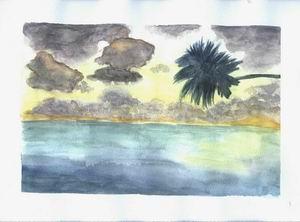 Nubes sobre el Mar