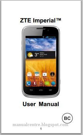 ZTE Imperial Manual Cover