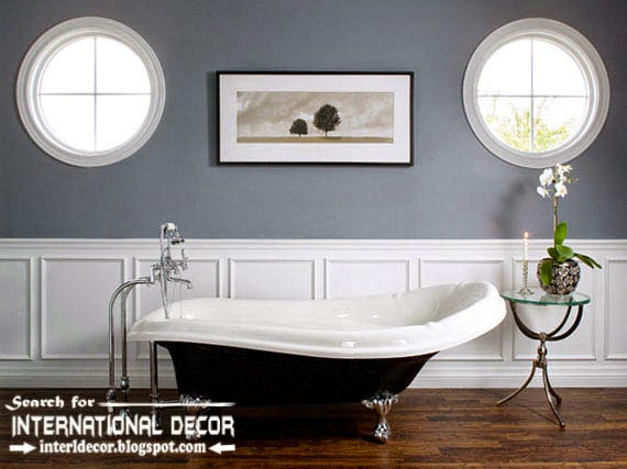 Decorative wall molding designs ideas and panels for luxury bathroom