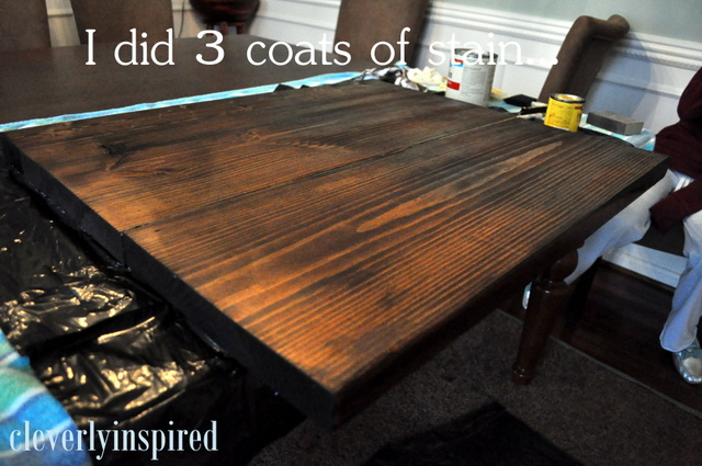 Merveilleux 3 Coats Of Stainu2026.sanding Gently In Between Each Coat. Then Poly, 3 Coats.  Just Like The Coffee Bar.