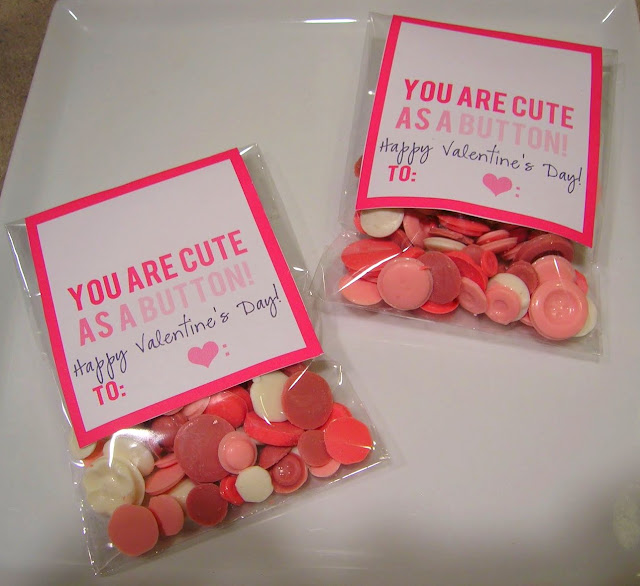Cute As A Button Valentine's Day candy