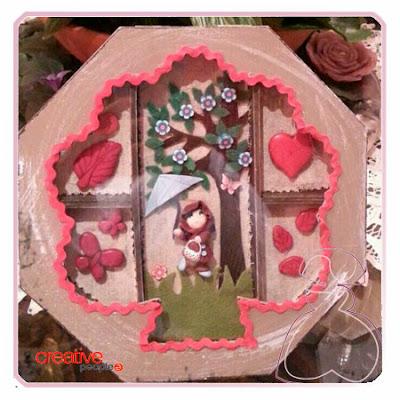 Cajita-joyero de madera decorada a mano por Sylvia Lopez Morant
