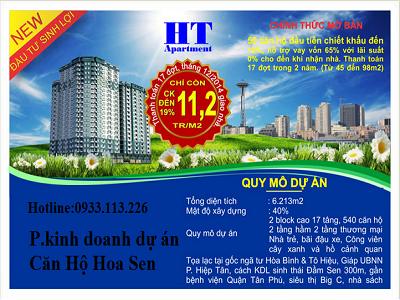 Mua bán CĂN HỘ HOA SEN QUẬN 11