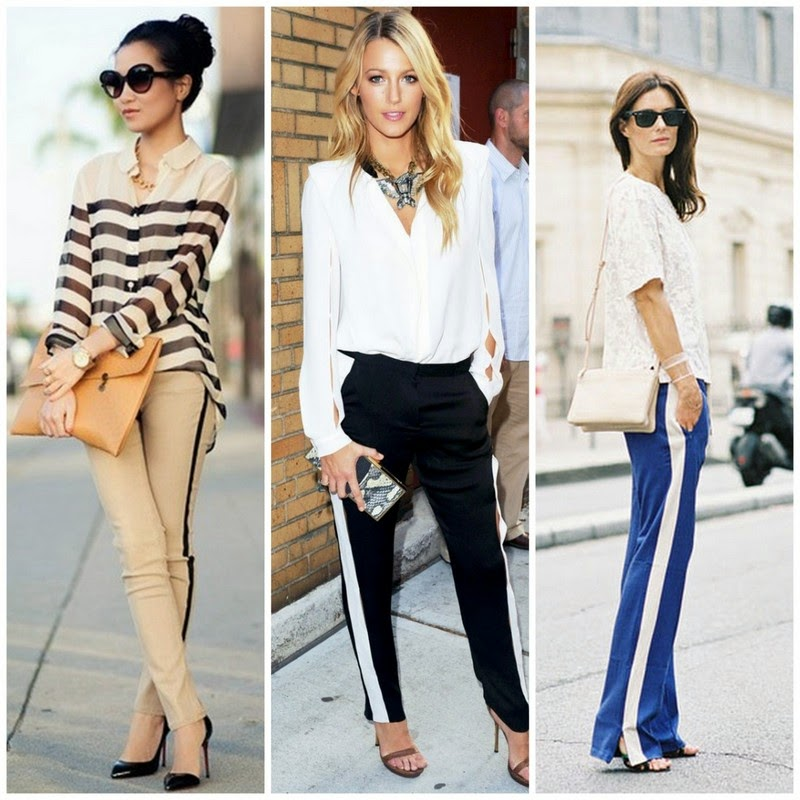 tuxedo stripe pants