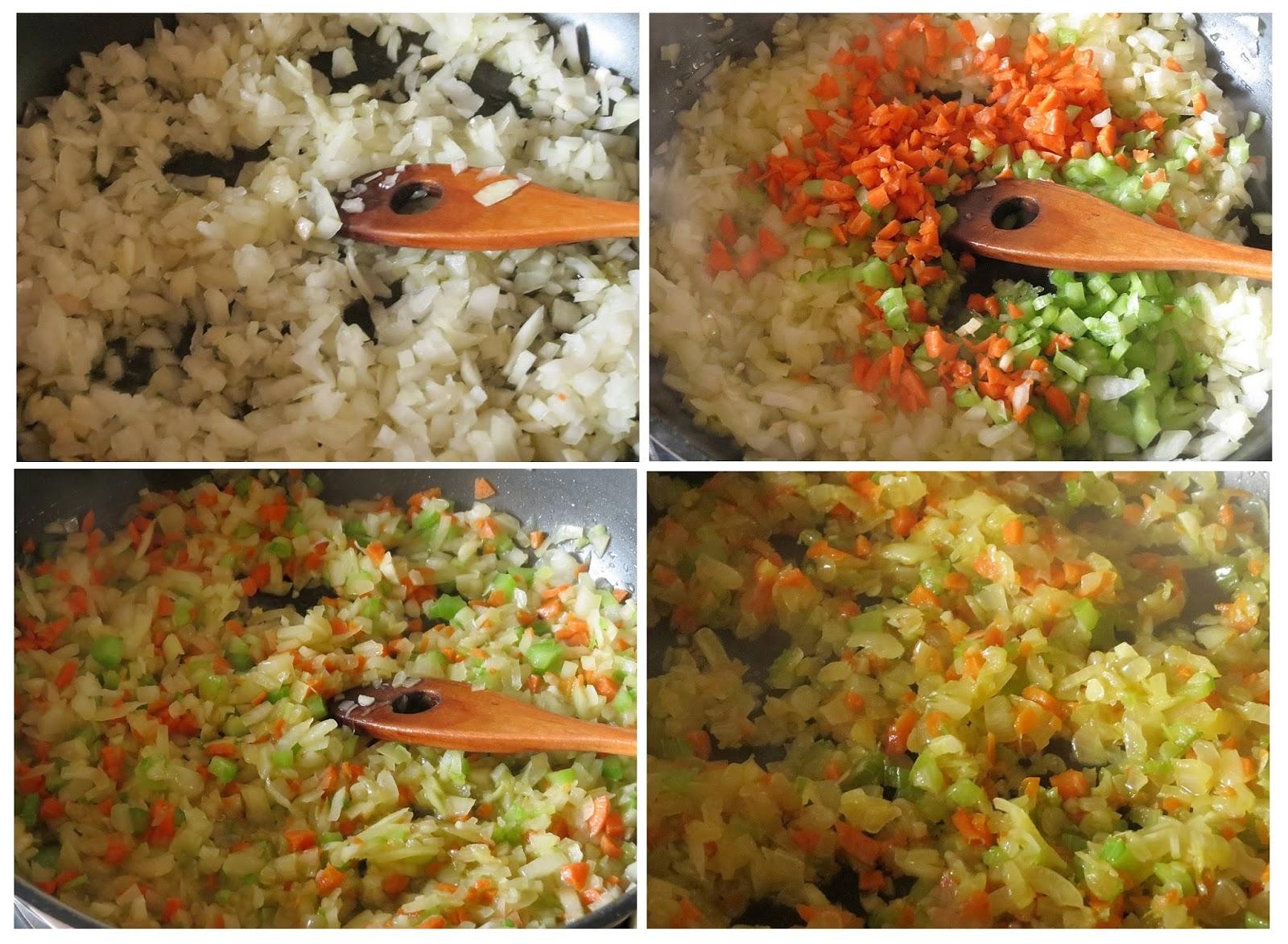 Cocinando las verduras