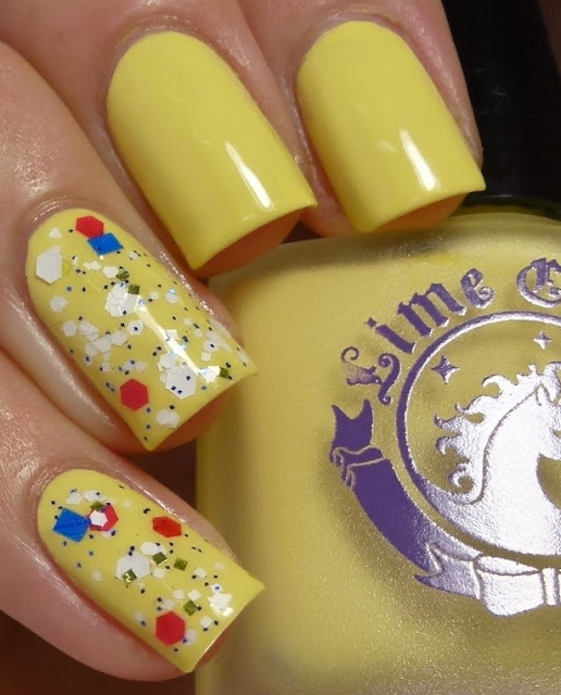 Crema de Limon, Lime Crime, Toad-ally Awesome, Dollish Polish, swatch