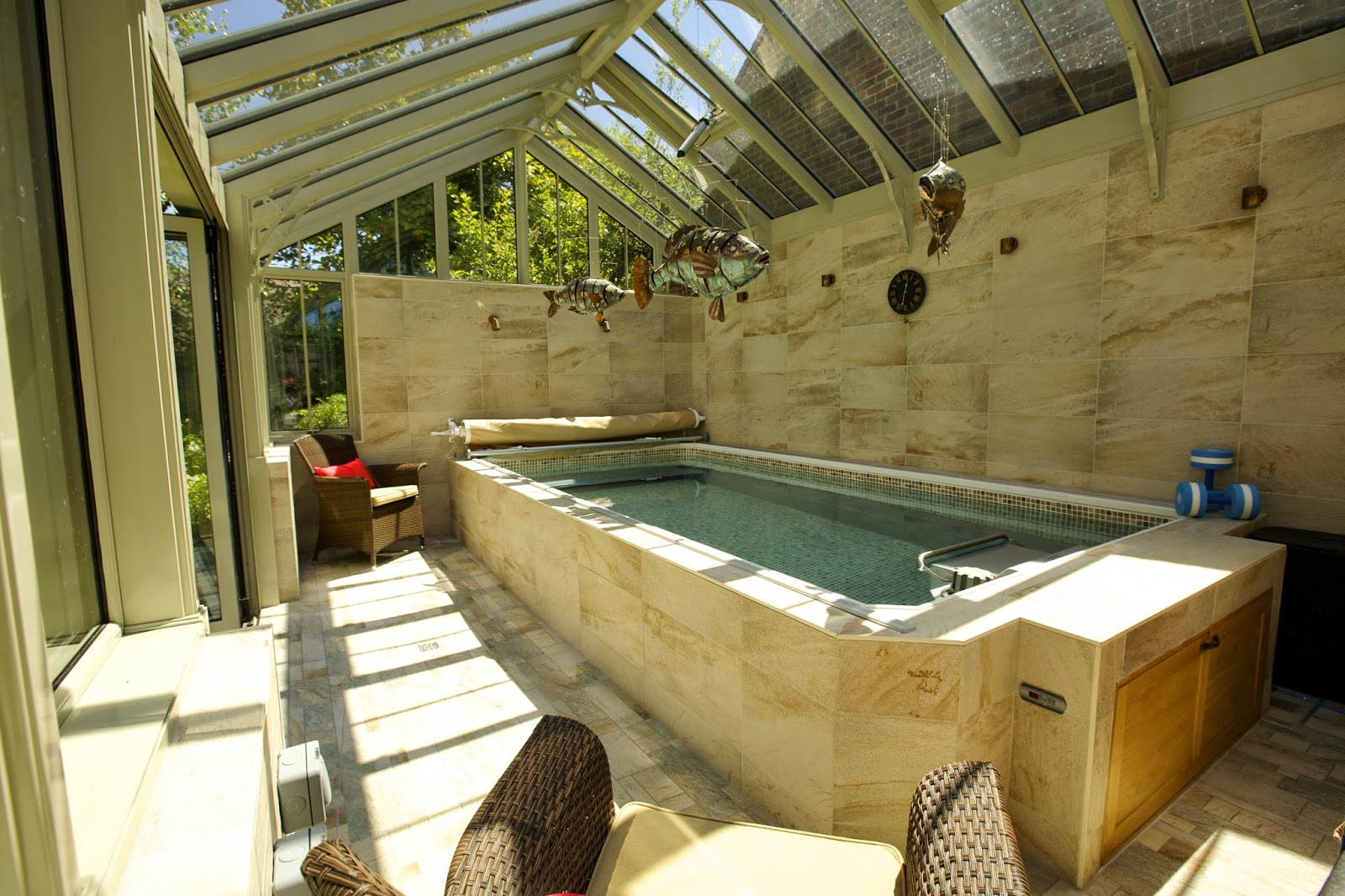 This Endless Pool installation won the Silver for Best Indoor Swimming Pool, UK Pool & Spa Awards, for Home Counties Poos & Hot Tubs.