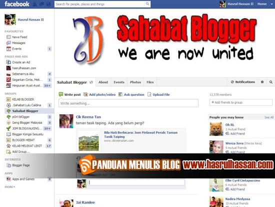 Adakah Anda Jumpa Dengan Teman Blogger Anda?