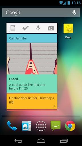 把 Google Keep 記錄當做 widget 放在 Android 螢幕上