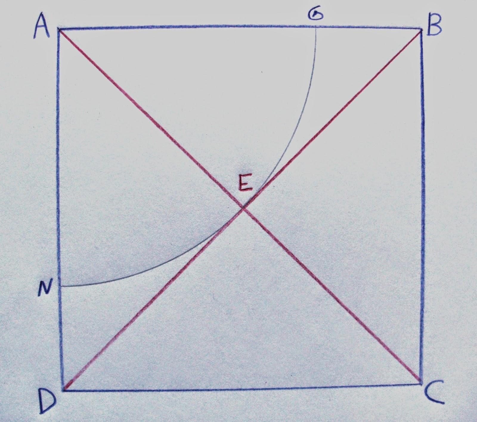Draw Diagonals AC And BD Intersecting At E.