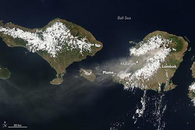Efek Erupsi Gunung Rinjani Sampai Menyelimuti 3 Pulau Di Indonesia
