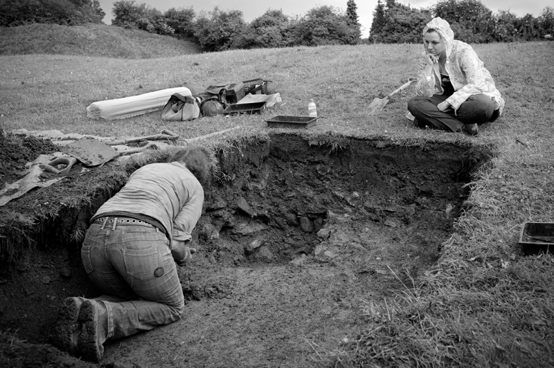An archaeologist working on a dig essay