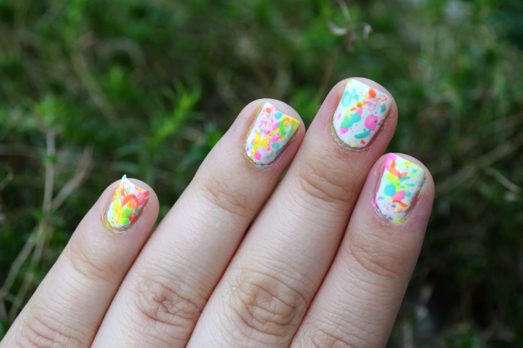 Neon Splash Nail Art Tutorial