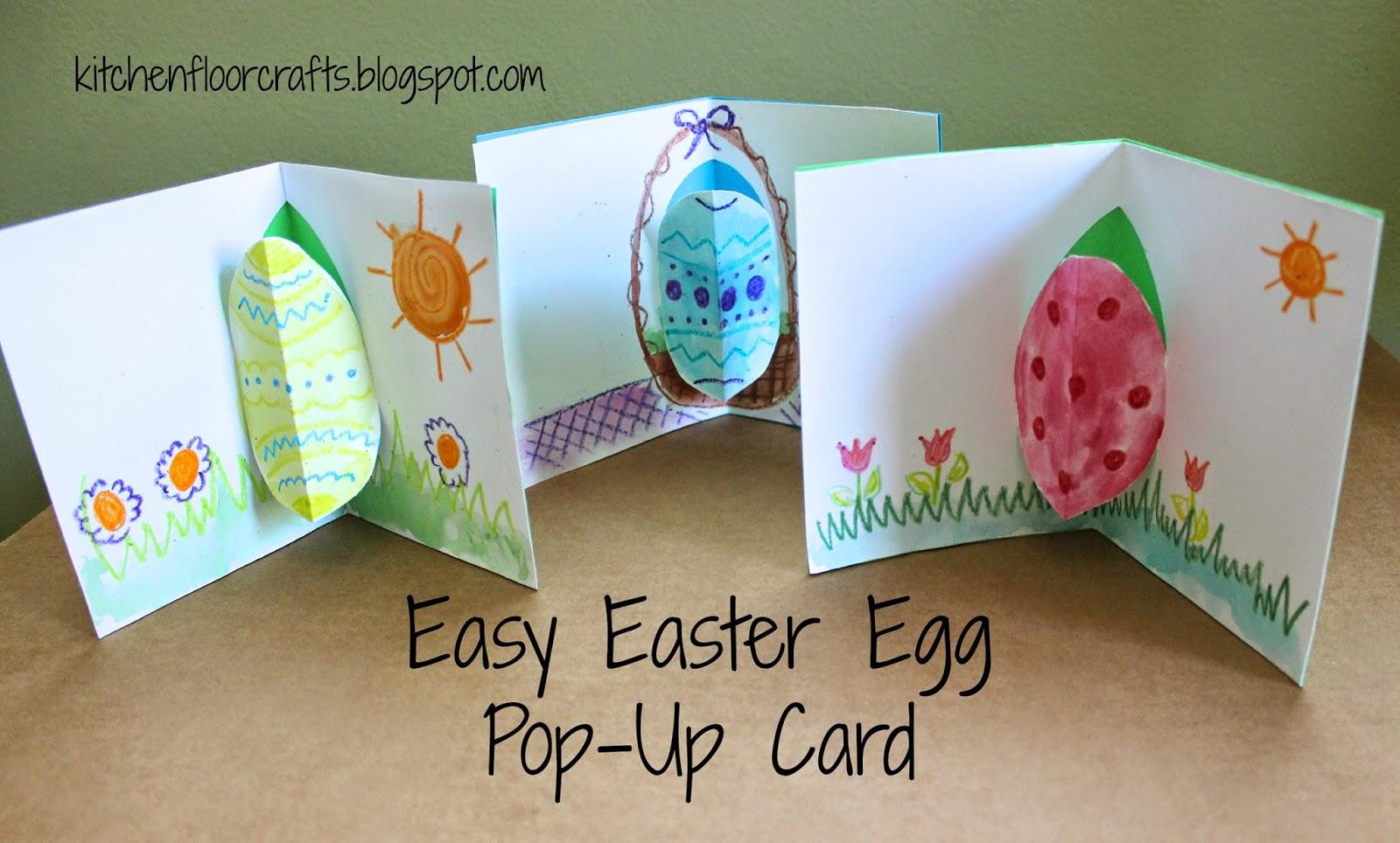 Kitchen Floor Crafts Easy Easter Egg Pop Up Card