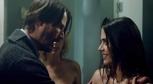 Keanu Reeves on Knock Knock Hot Movie Trailer