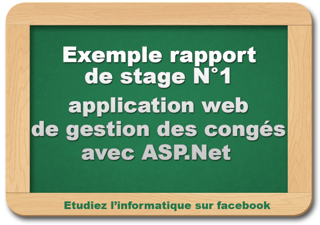 rapport de stage   application web de gestion des cong u00e9s