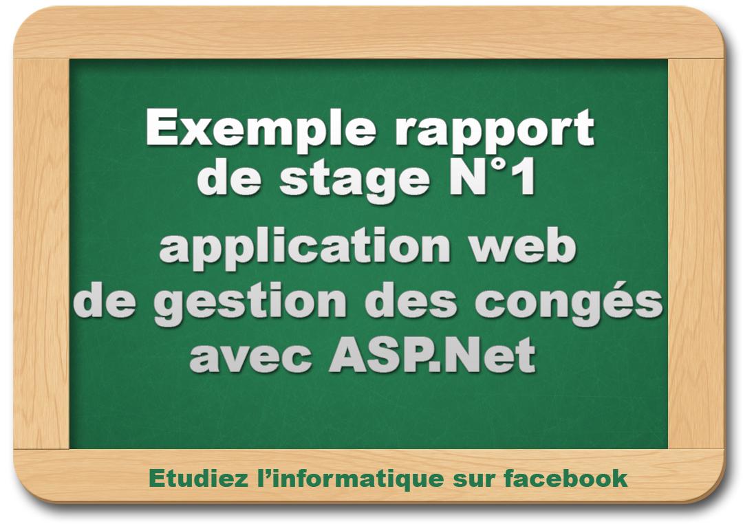rapport de stage   application web de gestion des cong u00e9s