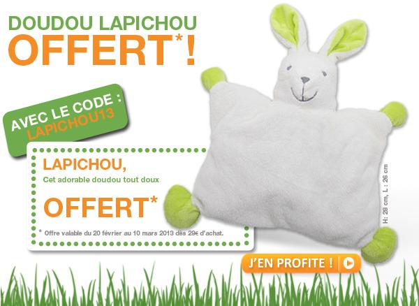 Doudou Lapichou offert dès 29€ d'achat