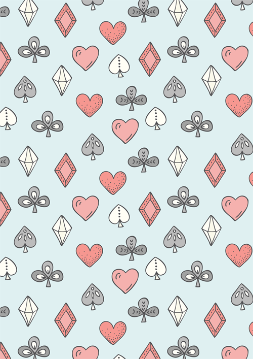 Emma Margaret Illustration Playing Cards Pattern 2015