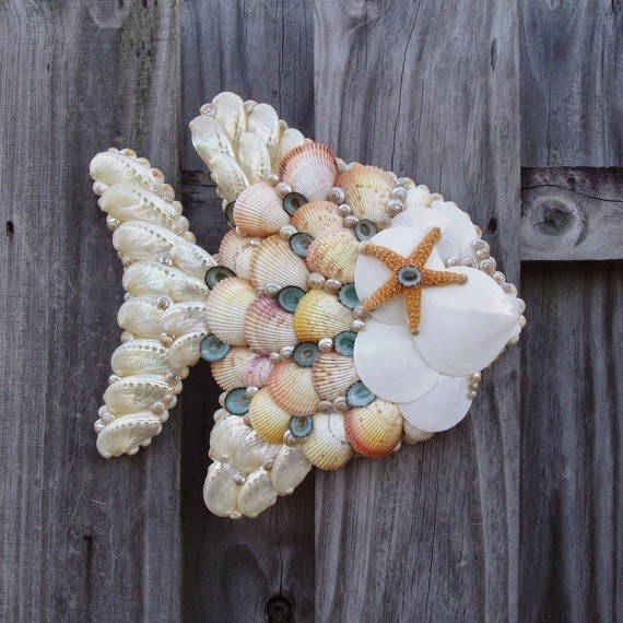 Seashell craft wall hanging decoration ideas art for Shell craft ideas