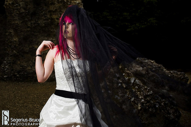 White Gothic Wedding Gown